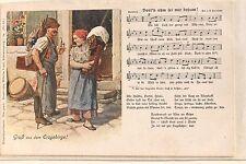 17960 Lied AK Erzgebirge Dortn uhm sei mir drham Verlag Wilhelm Vogel Nr.16 1910