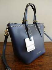 CALVIN KLEIN NAVY Blue BAG in Bag GOLD Studded TONI CROSSBODY Tote
