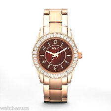 "Relic Ladies ""Hannah"" Rose Gold-tone Brown Dial Bracelet Watch ZR11966"