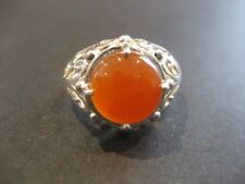 Handmade Solid 925 Sterling Silver & Red Carnelian Crystal Gemstone Ring 925336