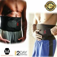 Waist Trimmer Abs Belt Muscle Back Support Weight Loss Fitness Gym Exercise