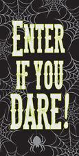 """Enter If You Dare 60"""" x 30"""" Door Poster Halloween Spider Web"""