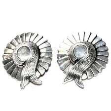 Boucles d'oreilles vintages ou anciennes plaqué argent originale bijou earring