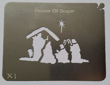 Stainless Steel Christmas Nativity Scene cake decorating / card making stencil