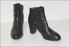 EXCLUSIF Bottines à Talons Cuir Noir T 39 TBE