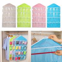 16 Pockets Clear Over Door Hanging Bag Shoe Rack Hanger Sale Storage S8P4