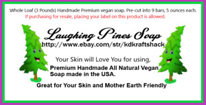 Loaf Soap Handmade Natural Vegan Premium USA large 3 pound cut 9 bars 5 ounces