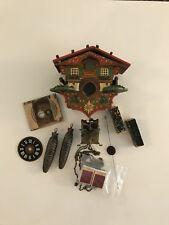 Late 1800s German Hand Painted Cuckoo Clock~Triple Plate Movement~Miniature~Fix~