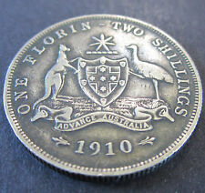 1910 Australia 2/- Two Shillings One Florin #WB03