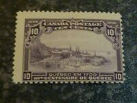 CANADA POSTAGE STAMP SG193 10C VIOLET OFF CENTRE MOUNTED MINT