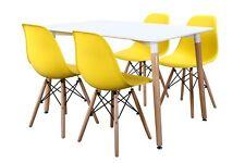 Conjunto de Mesa Wad 120 + 4 sillas Tower amarillas