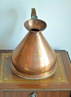 Antique 1 Gallon Copper Harvest Jug 26cm diameter 27cm tall
