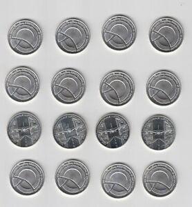 10 Euro Gedenkmünzen, 16 Stück als Silberanlage-Konvolut