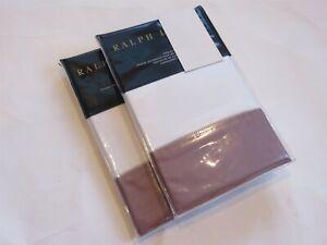 2 Ralph Lauren Langdon Sateen 624TC King Shams Duchess Lavender NIP $290