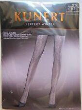 KUNERT Fashion Strumpfhose Perfect Winter florales Muster Gr.40-42 Artic-Taupe