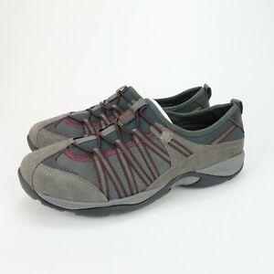 EASY SPIRIT EZ RISE Gray Suede Walking Slip On Comfort Loafer Shoes Size 6 M