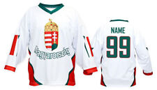 Team Hungary WHITE Ice Hockey Jersey Custom Name and Number