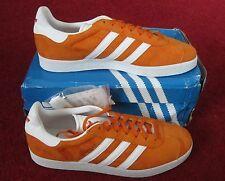BNWB Genuine adidas originals Gazelle Unity Orange Suede Trainers UK Size 10