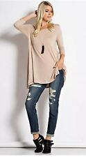 Solid Taupe Tunic abby +anna Brand Large
