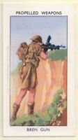 Bren Gun Light Machine Gun British Weapon 60+ Y/O Ad Trade Card