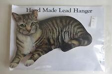 Cat Key Hook Holder Hanger Wooden Wall Mounted TABBY CAT