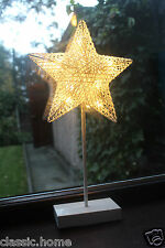 FREE STANDING RATTAN STAR LIGHT BEDSIDE LAMP RATTAN LIGHT WITH STAND LED LIGHT