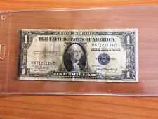 RARE 1935 A $1 SILVER CERTIFICATE SHORT SNORTER NOTE WWII EQUATOR & IDL CROSSING