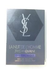 NEW YSL La Nuit De L'Homme Eau Electrique 1.2ml/0.04oz Sample Spray