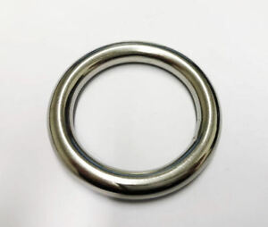Welded Round Rings 316 Stainless Steel Marine/Shade Sail/Boat 12 Sizes