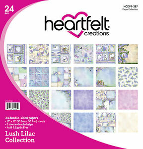 """Heartfelt Creations Double-Sided Paper Pad 12""""X12"""" 24/Pkg-Lush Lilac, 12 Designs"""