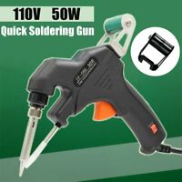 50W Handheld Electric Solder Gun Temperature Tin Soldering Welding Tool 110V