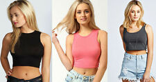 Boohoo Patternless Tops & Shirts for Women