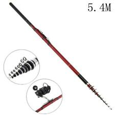 5.4m Telescopic Fishing Rod 10 Section Carbon Fiber Spinning Pole