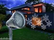 LED Fiocchi di neve bianco Faretto Proiettore Illuminazione Effetto luminoso