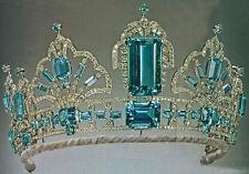 16.44ct Rose Cut Diamond  Topaz 925 sterling silver Wedding  tiara Crown