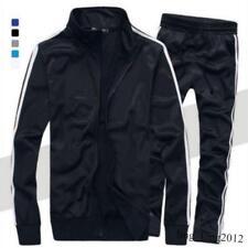 Mens Running Sports Suits Zip Down Coat Long Pants Gym Tracksuit Sweatsuit 2 Pcs