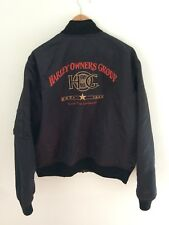 HARLEY DAVIDSON Men's HOG Nylon Flight Jacket Bomber Size Large Made In USA