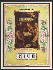 Niue  1991   Scott #   603     Mint Never Hinged Souvenir Sheet