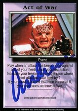BABYLON 5 CCG Trading Card Andreas Katsulas (1946-2006) Act of War AUTOGRAPHED