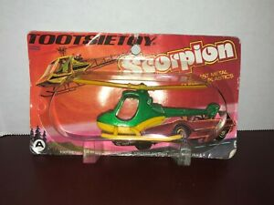 Vintage Tootsietoy MOC Scorpion Helicopter Sealed In Original Package