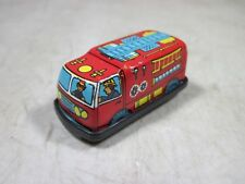 Vintage Micro Mini Tin Litho Friction Toy Fire Dept Engine Truck Hong Kong