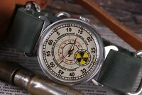 POBEDA Soviet Military Watch Radiation troops ☢️ Vintage Men's Watch + new strap