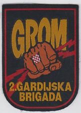 "CROATIA ARMY HV, 2nd GUARD BRIGADE ""THUNDERS"" GROMOVI 1990s, patch military !"