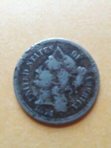 1874 Three Cent Nickel Piece