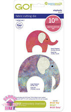 Accuquilt GO! Cutting Die Elephants 10th Anniversary Quilting Sewing 55373