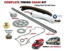 Para Fiat Doblo 1.3 D Jtd 16v Multijet 2004 - > cadena de distribución + Kit Engranajes + brida