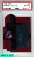 1996 UPPER DECK 3 Michael Jordan #23 STAR FOCUS CHICAGO BULLS PSA 8 NM-MT