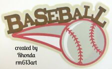 BASEBALL title  paper piecing Premade Scrapbook Pages album card by Rhonda