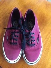 Vans Authentic Red Maroon Mens Size 4.5, Womens 6 Burgandy Pre-owned