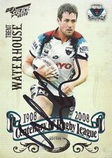 ✺Signed✺ 2008 PENRITH PANTHERS NRL Card TRENT WATERHOUSE Centenary